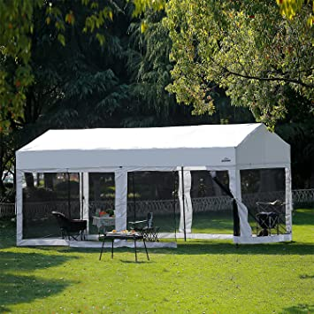 Suntime 10 \'x 20\' fácil Pop Up Canopy carpa con paredes laterales ...