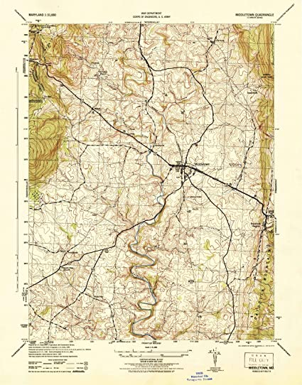 Amazon.com: Maryland Maps | 1944 Middletown, MD USGS Historical ...