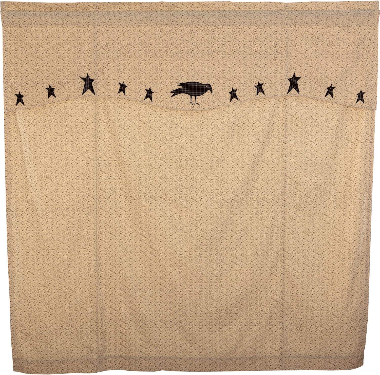 Kettle Grove Crow /& Stars Country Farmhouse Primitive Shower Curtain W//Valance