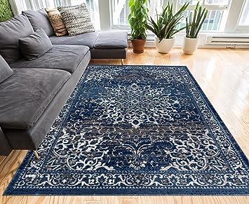 Amazon De Essex Blau Beige Vintage Traditionellen Persischen
