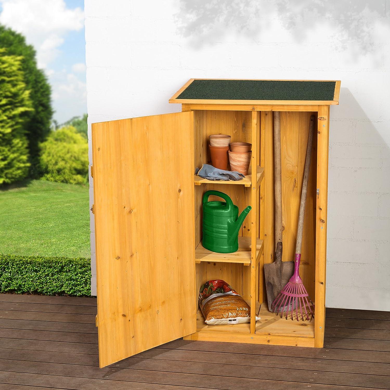TecTake Armoire de jardin remise pour outils abri d\'atelier en bois ...