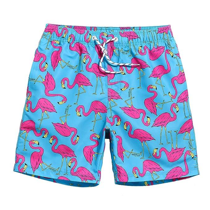 MaaMgic hombre pantalones cortos de playa secado rápido corto tramo de  natación Bañadores Flamenco  Amazon.es  Ropa y accesorios ffc685b860a