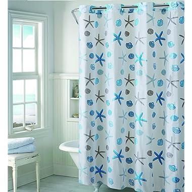 Hookless RBH14FC243 Seashell EZ on Seashell Shower Curtain