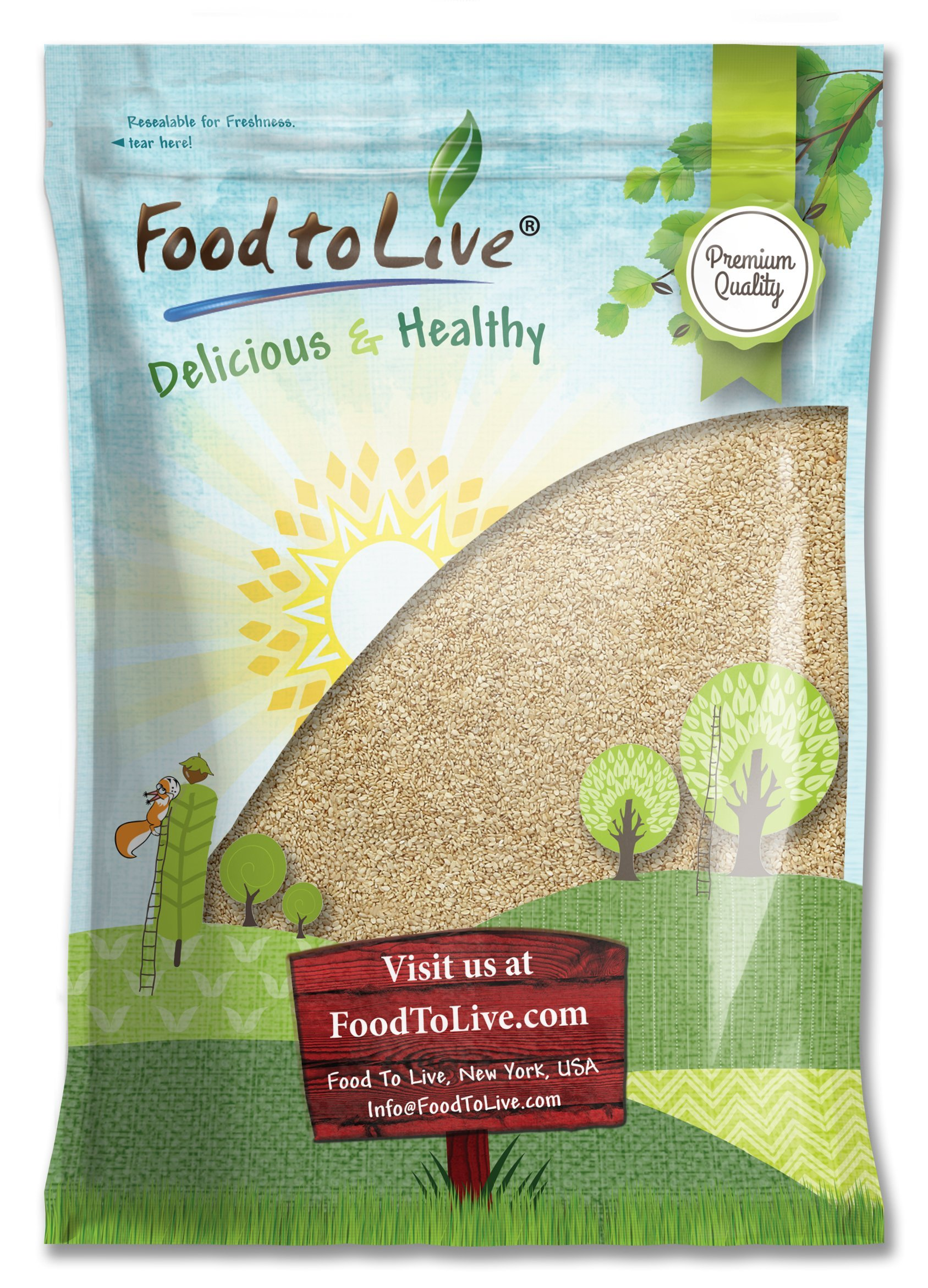 Sesame Seeds, 8 Pounds - Hulled, Kosher by Food to Live