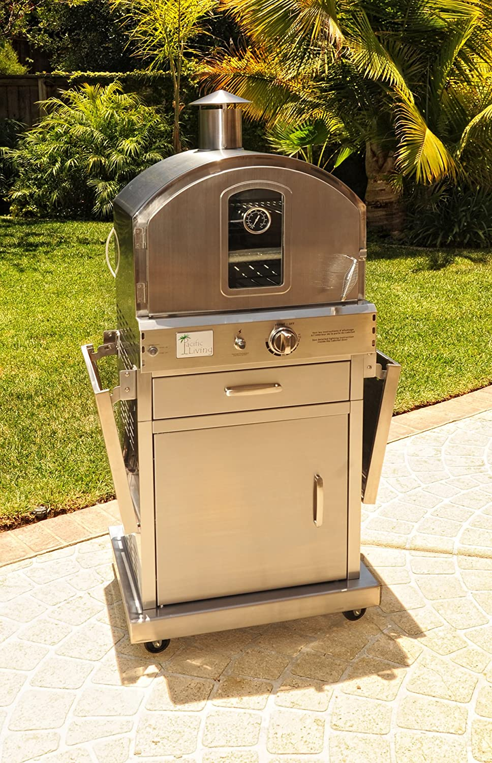 Pacific Living PL8430SSBG070 Outdoor Pizza Oven: Amazon.co.uk: Garden U0026  Outdoors