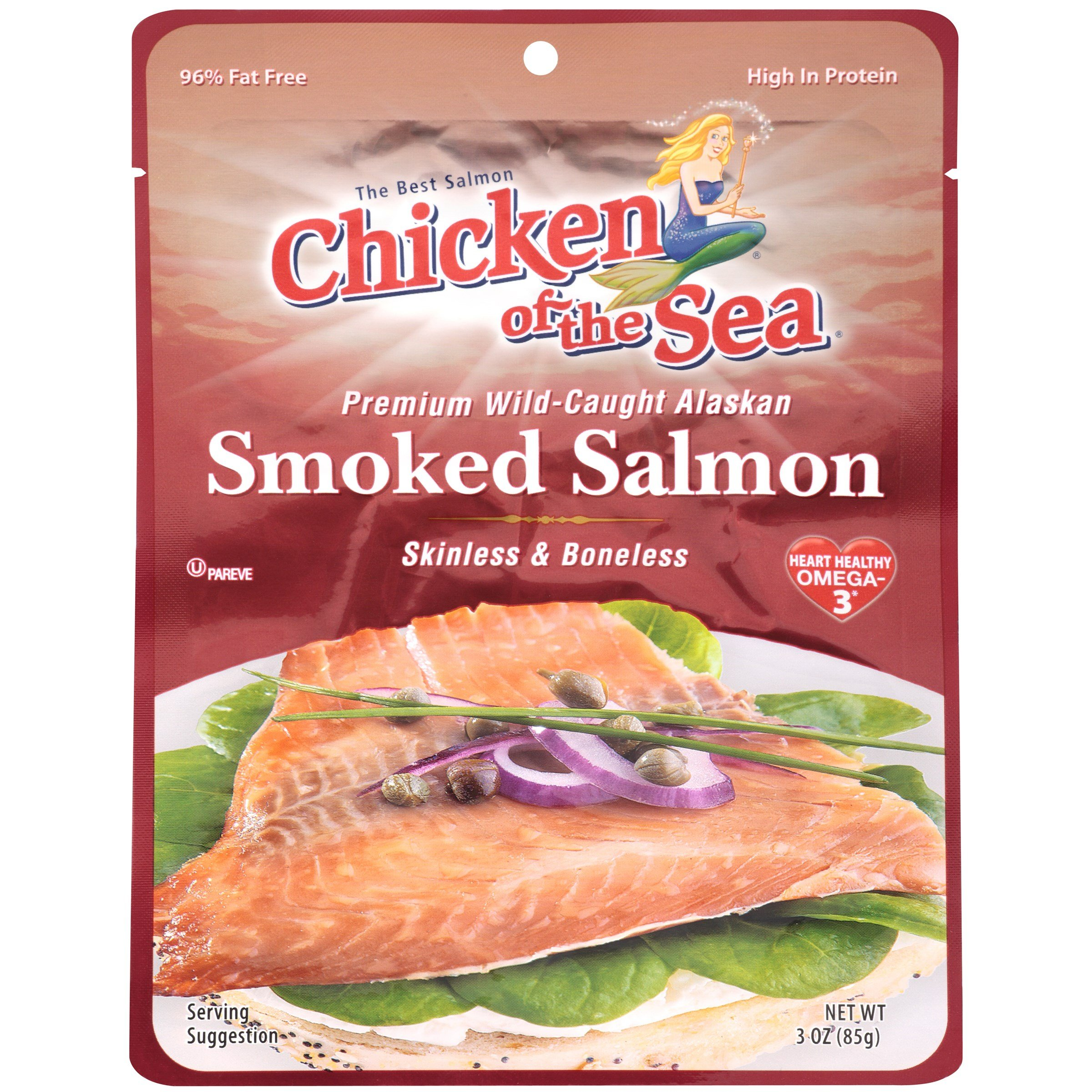 Chicken Pacific Smoked Salmon Pouch Pouches 3OZ (Pack of 24) by Chicken