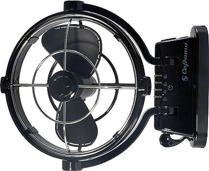 Caframo Sirocco 12 V cardán 3 Velocidad Ventilador, Negro: Amazon ...