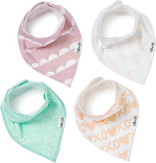 Ali+Oli baberos bandana baba modernos para bebés | suave paquete ...