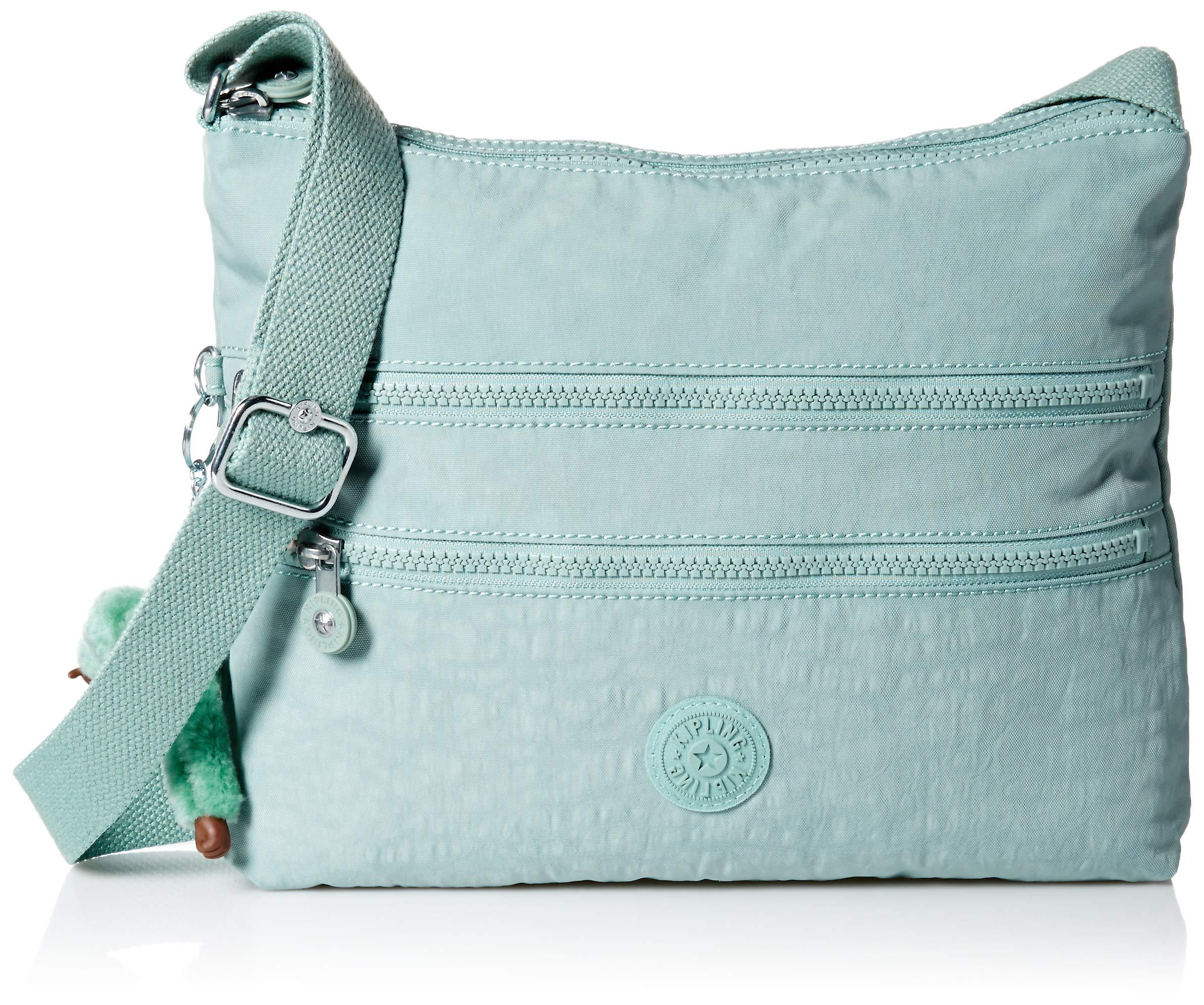 Kipling Women's Alvar Bag, Adjustable Crossbody Strap, Zip Closure, Fern Green Tonal