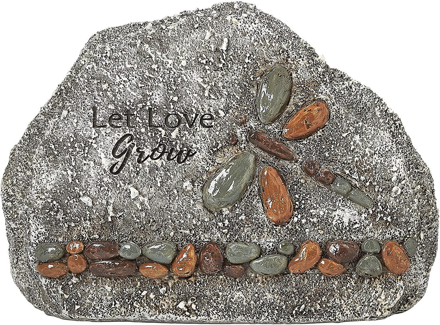Roman Garden - Dragonfly Garden Stone, 5.5H, Garden Collection, Resin and Stone, Decorative, Garden Gift, Home Outdoor Decor, Durable, Long Lasting