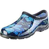 Sloggers Women's Waterproof Rain Garden Shoe Comfort Insole, Spring Surprise Blue, Size 07, Style 5118SSBL07