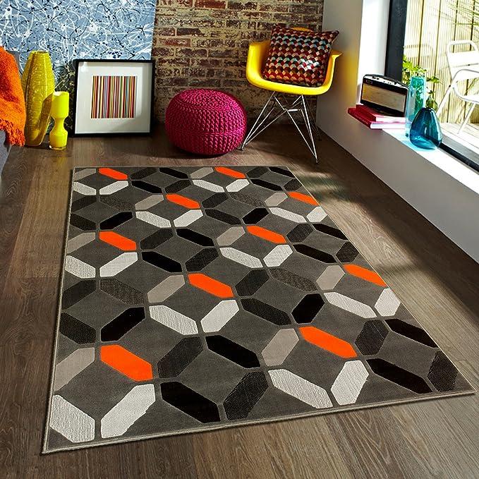 Amazon.com: Allstar 73 – 5 x 7 Naranja Diseño moderno ...