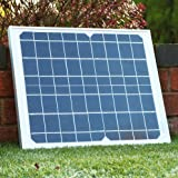 Solar Panel 10W 12V Monocrystalline - Grade A Solar Cells (10W + Cable) by PK Green