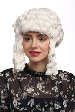 WIG ME UP ® - 90902-ZA60 Peluca señoras Carnaval Barroco históricamente rizos Blancos María Antonieta Reina Princesa Noble: Amazon.es: Juguetes y juegos