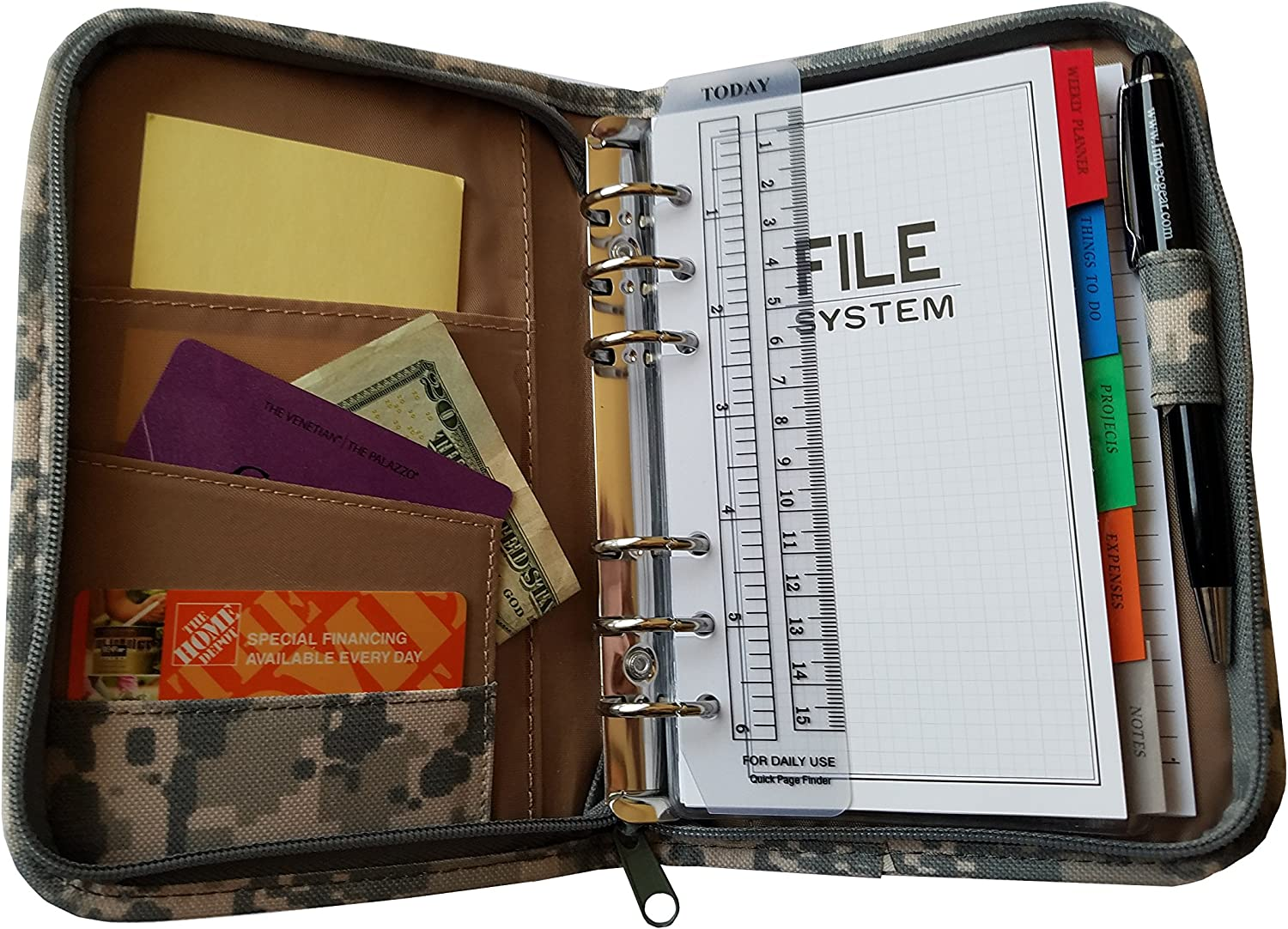 ImpecGear Camo Planner, Productivity/Financial Tracker, Organizer, Daily Calendar, Expense, Projects, Journal to Increase Productivity (Pack of 1)