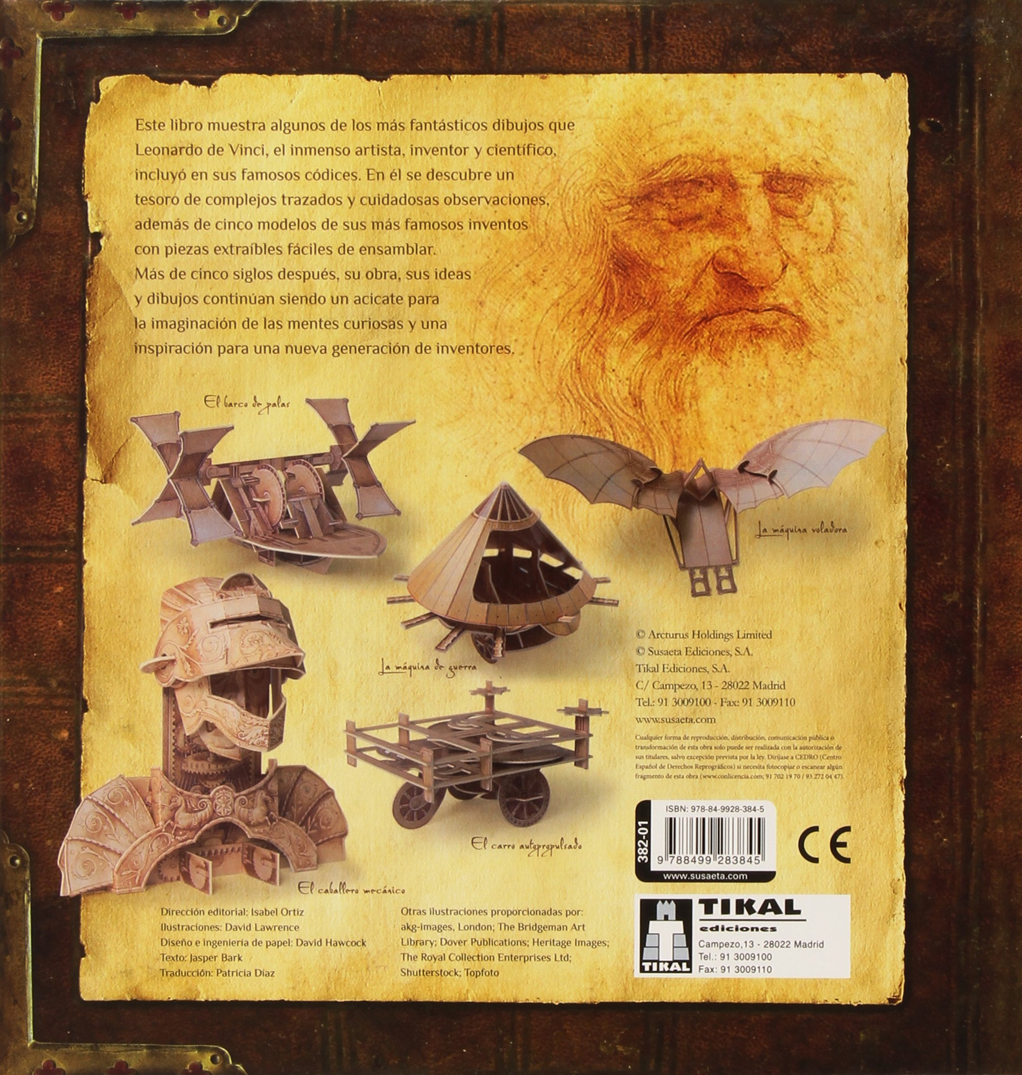 Inventos Leonardo Da Vinci Modelos Para Armar Spanish Edition Bark Jasper Lawrence David 9788499283845 Books