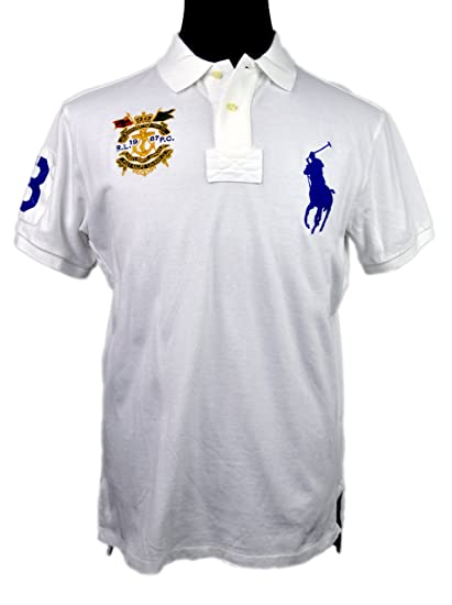 Pony Fit l Custom p Big White Lauren Shirt Men's Polo Ralph R c 2YWDH9EI