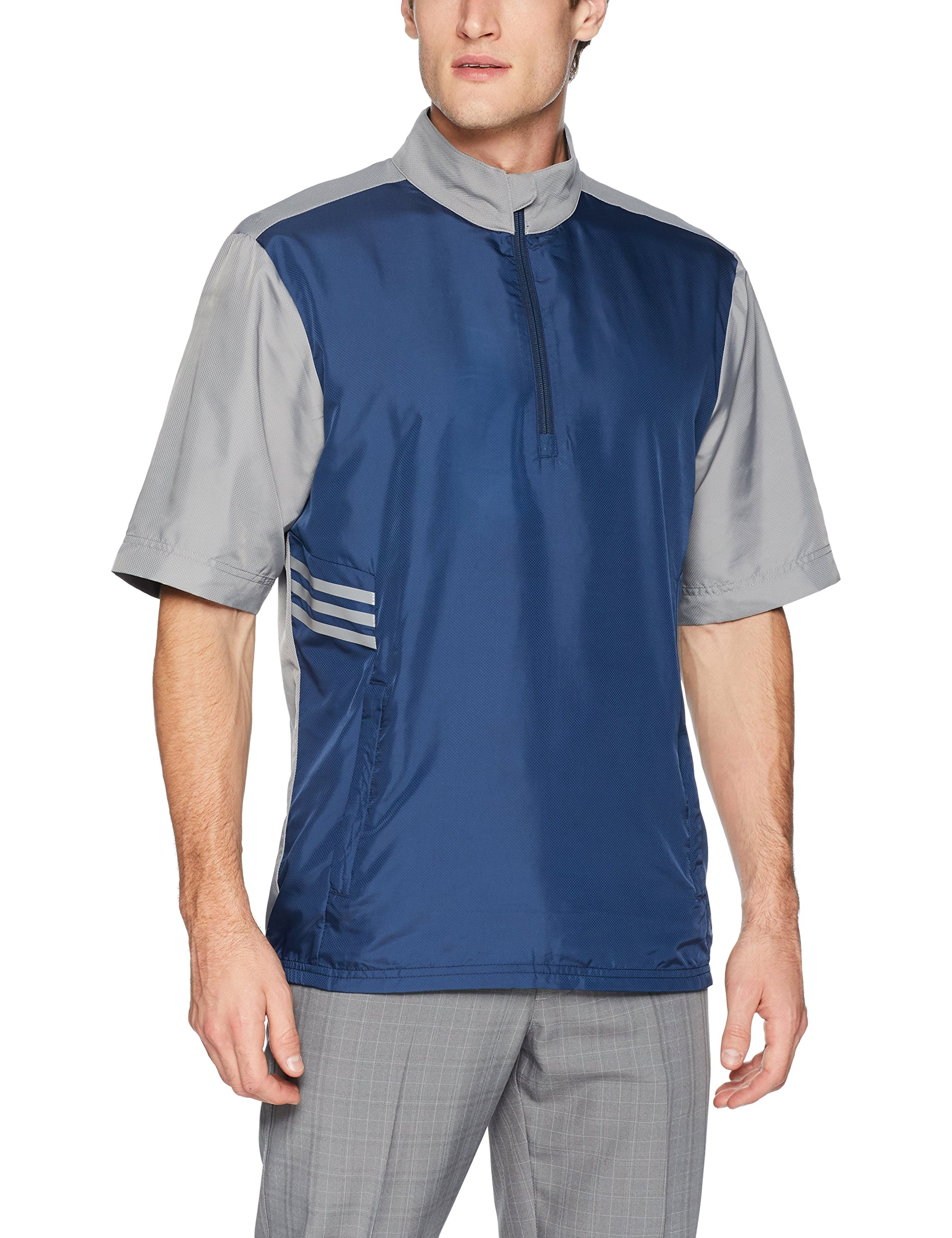 adidas Golf Club Short sleeve Wind Jacket, Collegiate Navy, XX-Large