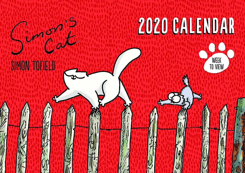 Simon's Cat Wandkalender, A4, Motiv Familie, 2020