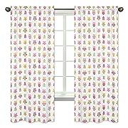 Sweet Jojo Designs 2-Piece Pink Happy Owl Collection Window Treatment Panels
