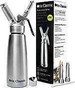 Whipped Cream Dispenser Stainless Steel - Professional Whipped Cream Maker -