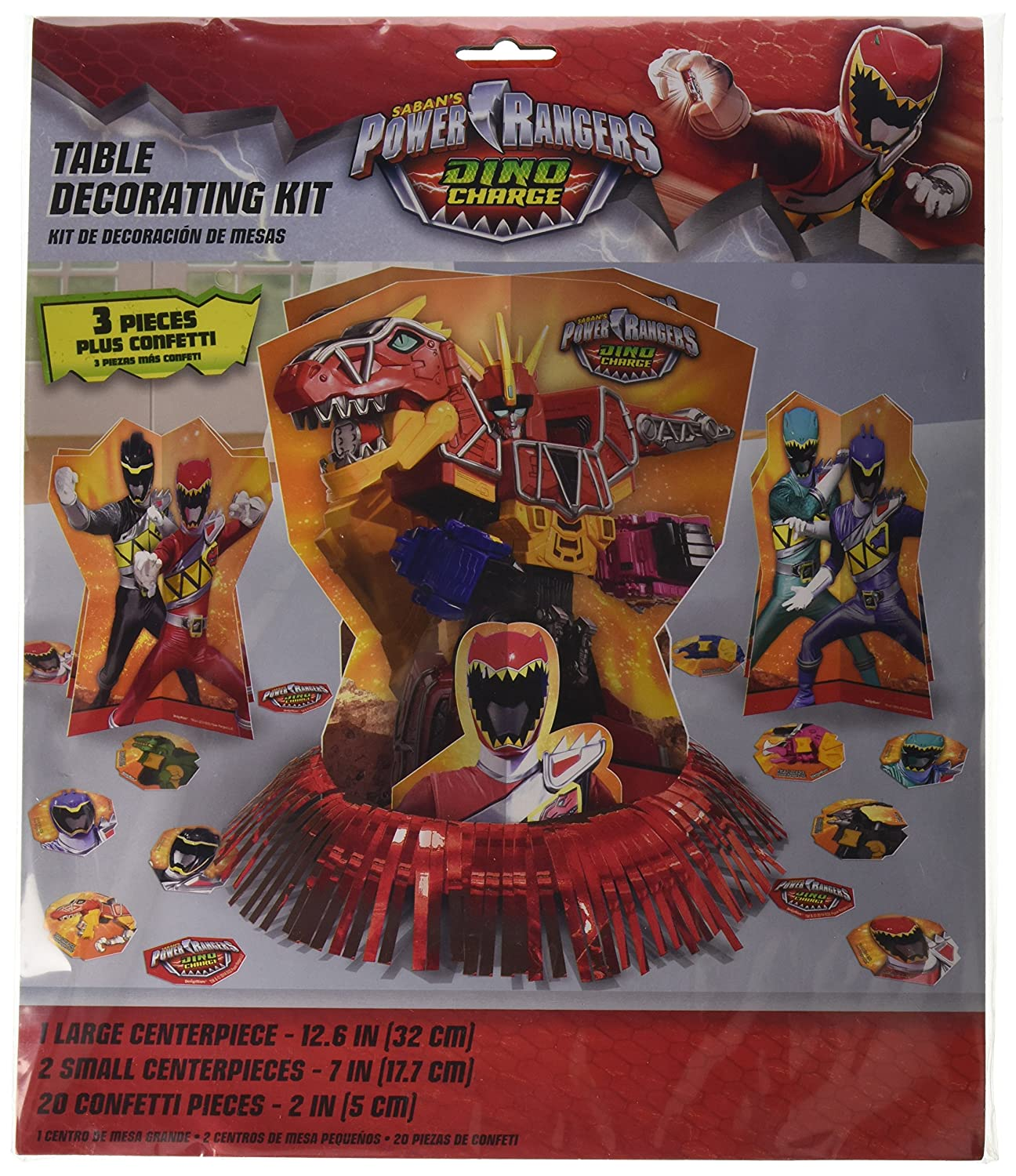 POWER RANGER NINJA STEEL Table Decorating Kit 23 Piece Centerpiece Party Supply