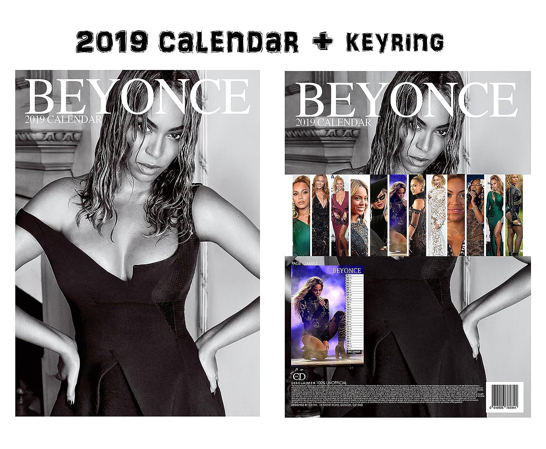 Beyonce 2019 Calendar Amazon.: Beyonce Calendar 2019 + Beyonce Keychain : Office