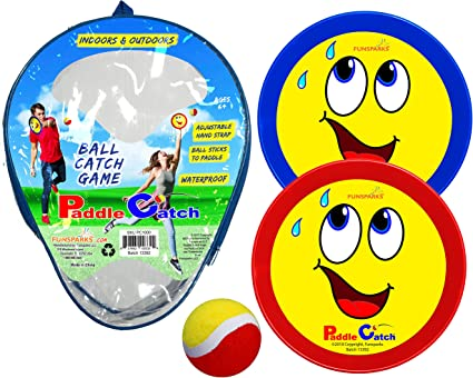 Click and Catch Twin Ball Game Indoor Garden Toy Set Launch Catch ball LT