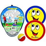 Paddle Catch Toss and Catch Ball Set – Self Stick Paddle Ball Game with 2 Paddles, 1 Ball and 1 Storage Bag