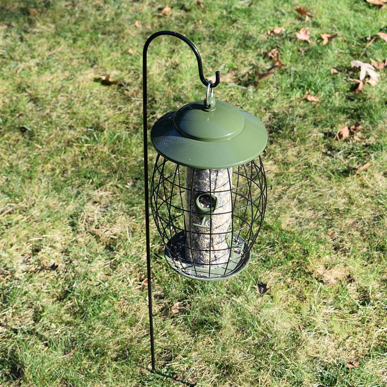 shepherds hooks hanging solar lights steel garden stakes. Black Bedroom Furniture Sets. Home Design Ideas