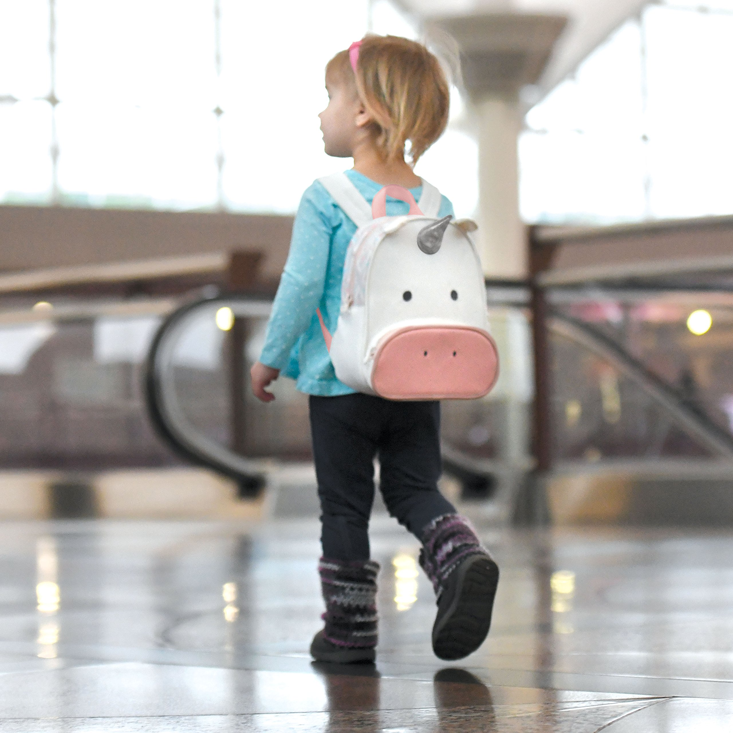 Travel Bug Toddler Safety Unicorn Backpack Harness with Removable Tether, Pink/White by Travel Bug (Image #2)
