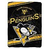 "NHL Pittsburgh Penguins Stamp Plush Raschel Throw, 60"" x 80"""