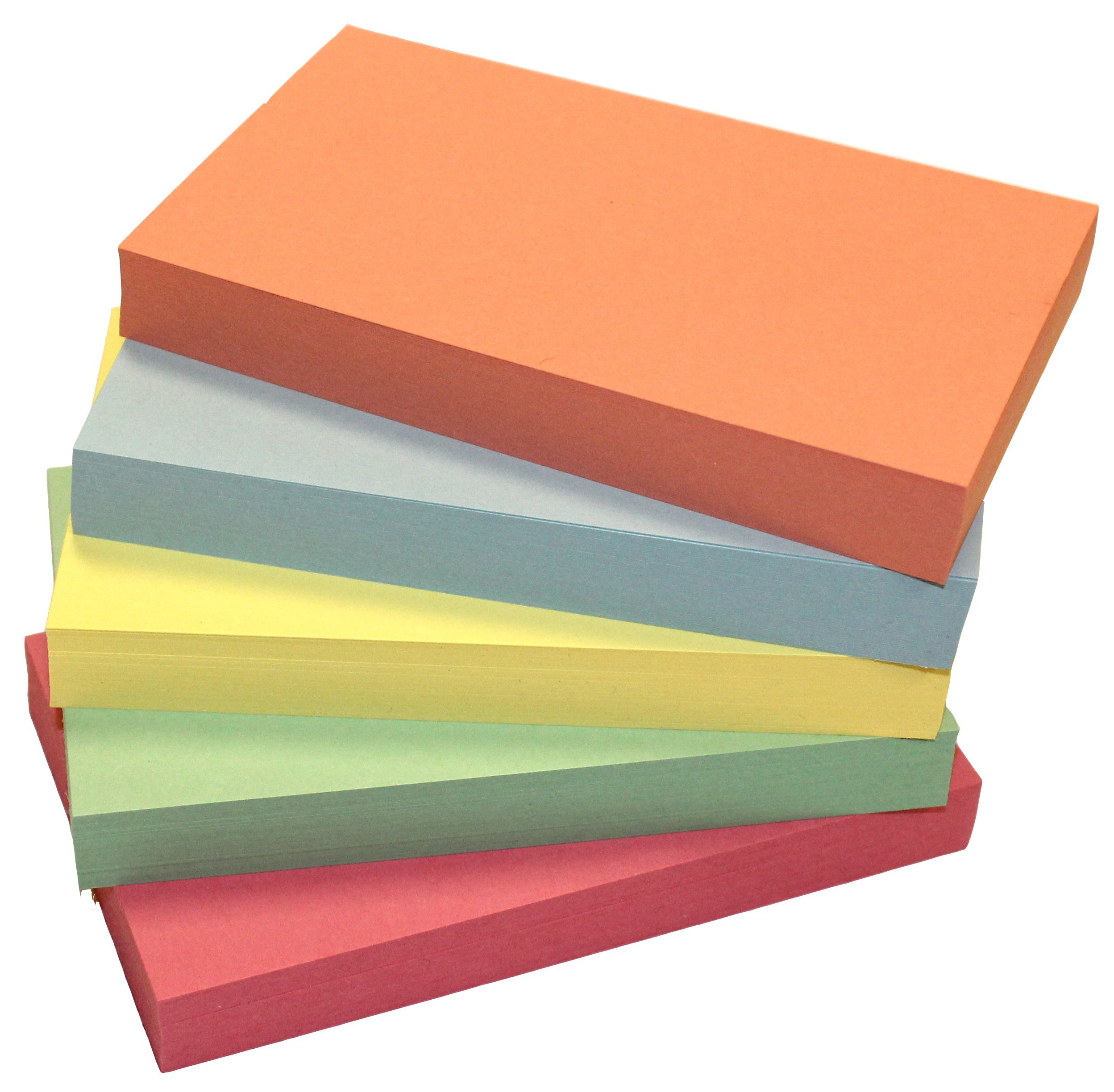Debra Dale Designs 250 Blank Index Cards - 3'' x 5'' - 140# Heavy Index Card Stock - 5 Colors - 50 Cards Each Color by DEBRADALE DESIGNS