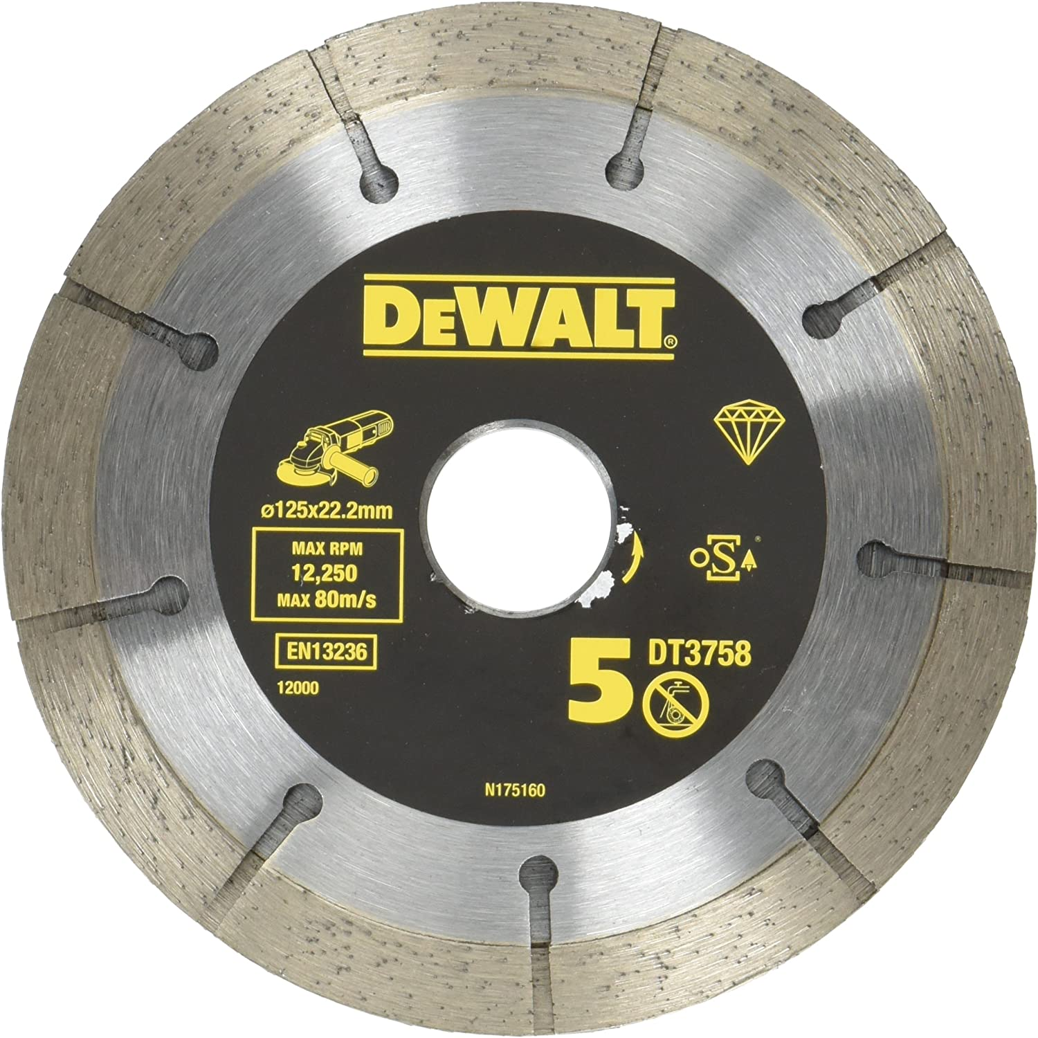 125mm//5//6.0mm Width TROJAN Platinum Professional Contractor Mortar Raking Diamond Blade//Diamond Disc