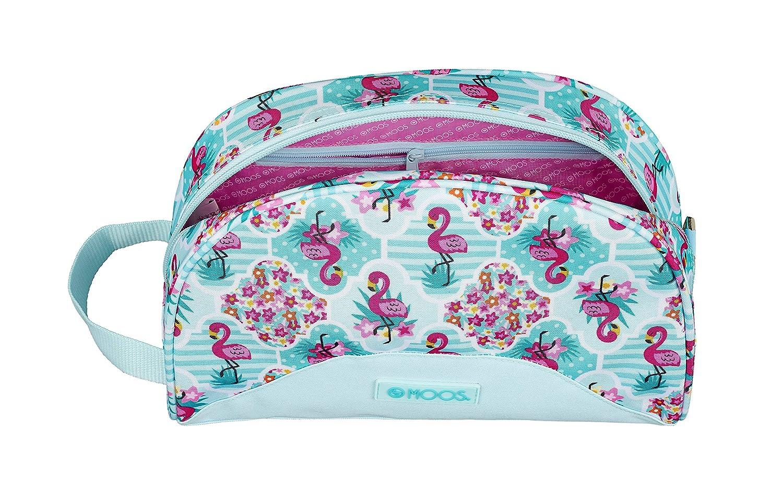 Moos Flamingo Turquoise Oficial Mochila Escolar Infantil Pequeño Con Asa 280x100x180mm: Amazon.es: Equipaje