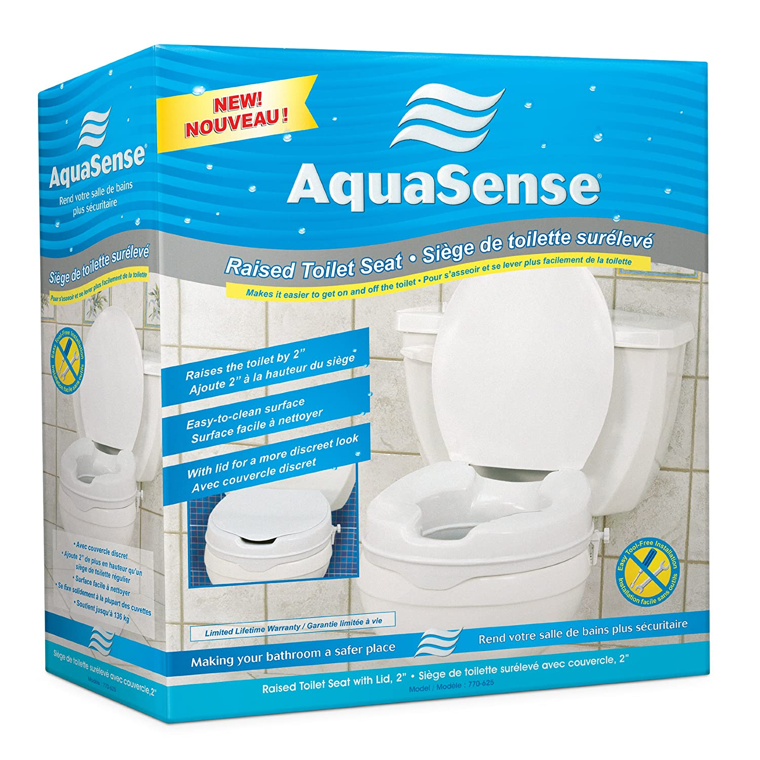 2 Inch Toilet Seat. Amazon com  AquaSense Raised Toilet Seat with Lid White 2 Inches Health Personal Care