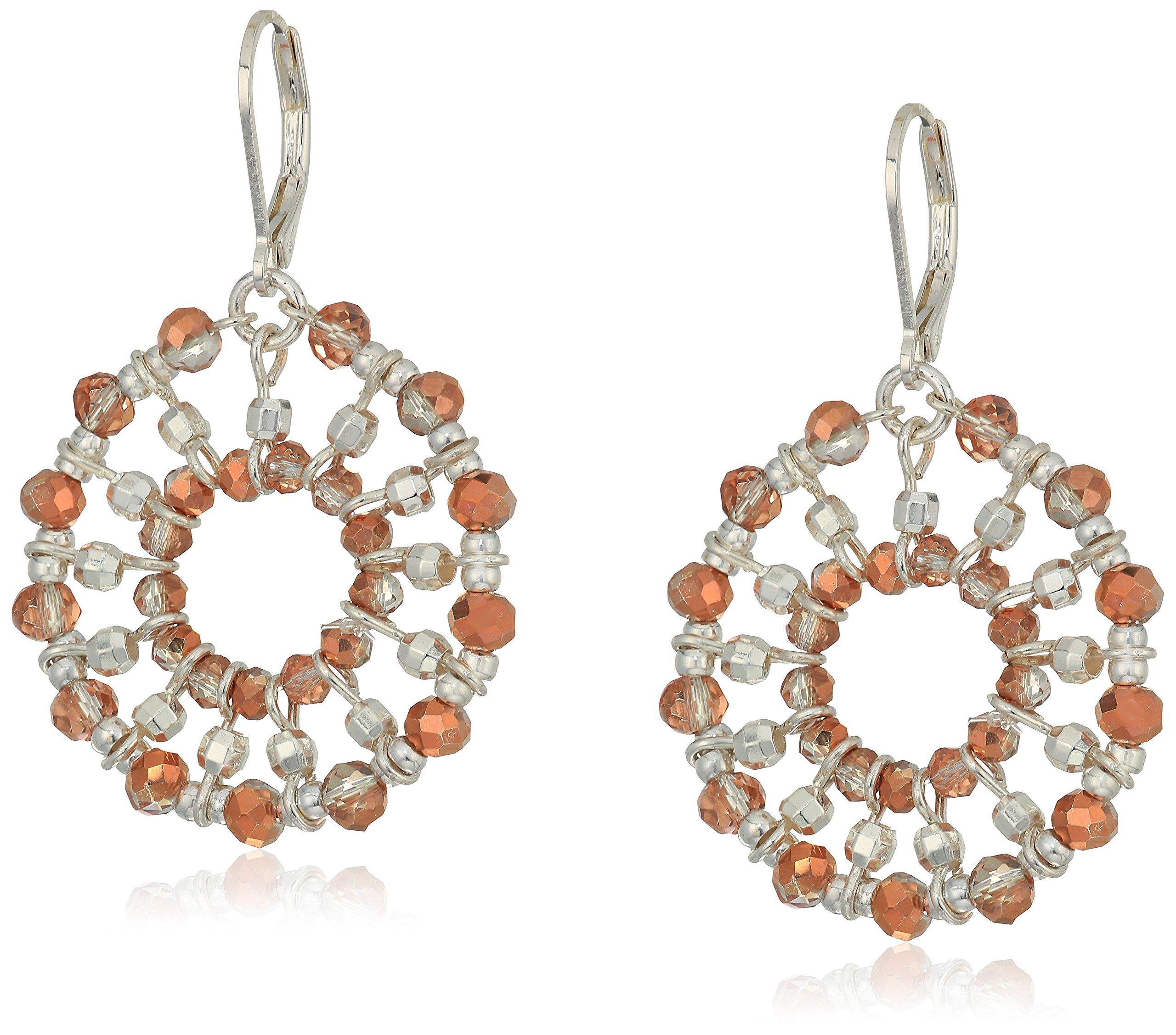 Napier Twotone Circle Drop Earrings