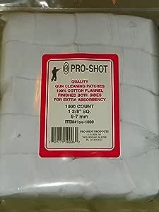 """Pro Shot Pro-Shot/Patches Pro-Shot 1 3/8"""" sq Patch 1000 CT. 6-7mm"""