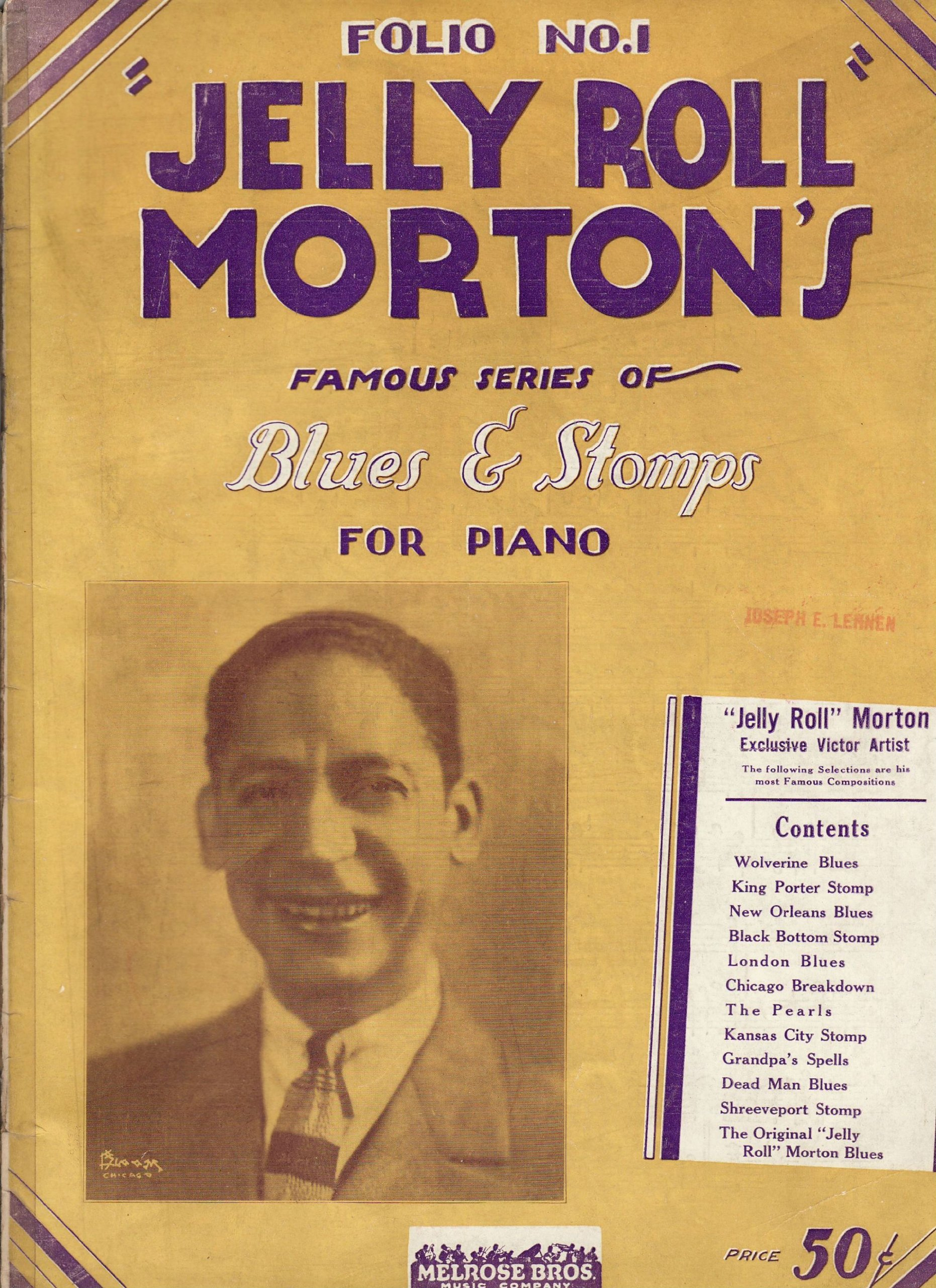 Jelly Roll Mortons Famous Series Of Blues Stomps For