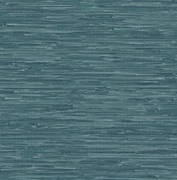 A Street Prints 2657 22265 Natalie Faux Grasscloth Wallpaper Teal