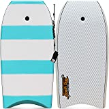 """42"""" Bodyboard - Premium High Performance Body Board - Durable, Lightweight Body Board with EPS Core, Smooth Top Deck and Slick HDPE Bottom Deck"""