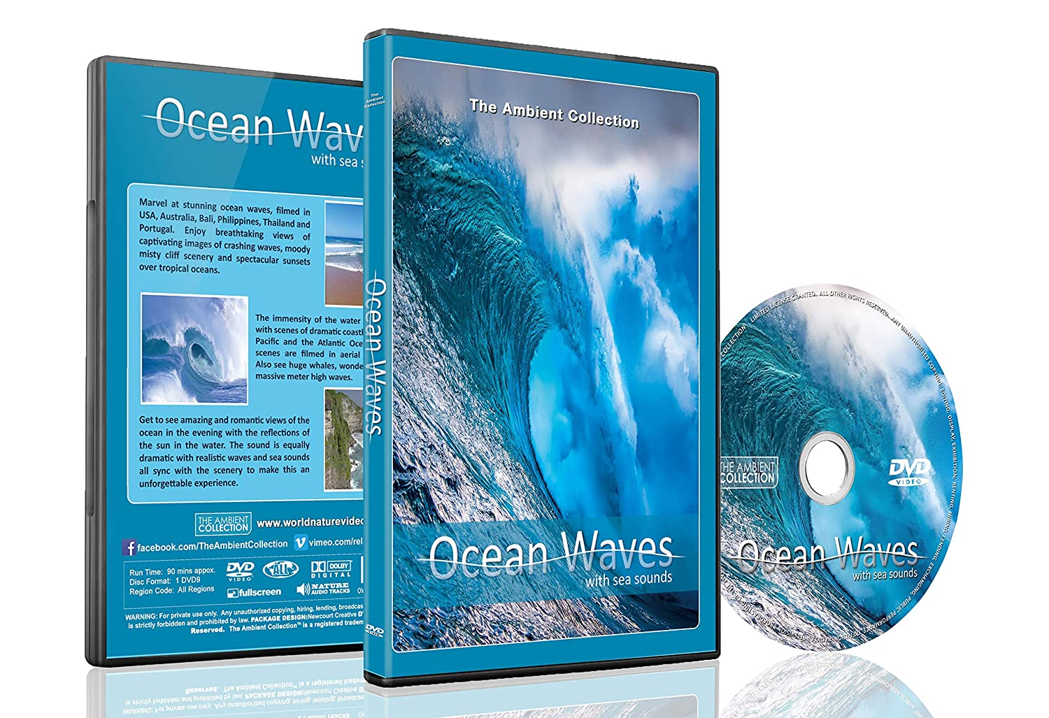Ocean Waves DVD with Sea and Wave Sounds - Relax with Crashing Waves and View the Ocean from Above with Arial Cinematography - Good for Relaxing and Bedtime Relaxation