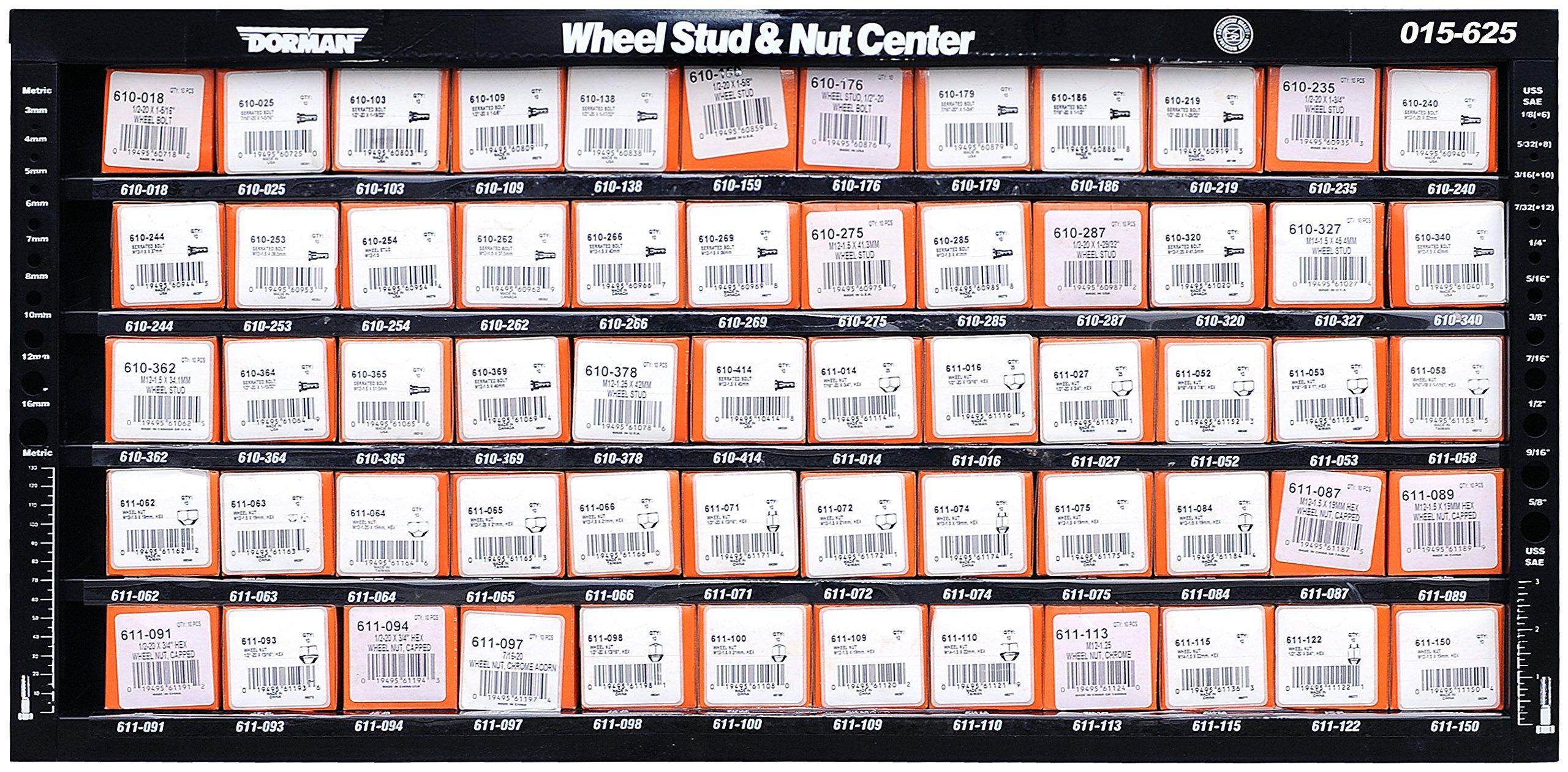 Dorman 015-625 Wheel Hardware Wheel Nut Wall Mount Assortment