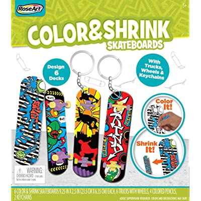 RoseArt Color N Shrink Skateboards: Toys & Games