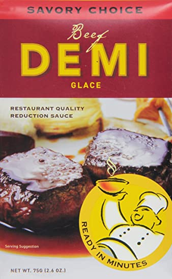 Amazon.com: Savory Choice Beef Demi Glace, 2.6 Ounce Package ...