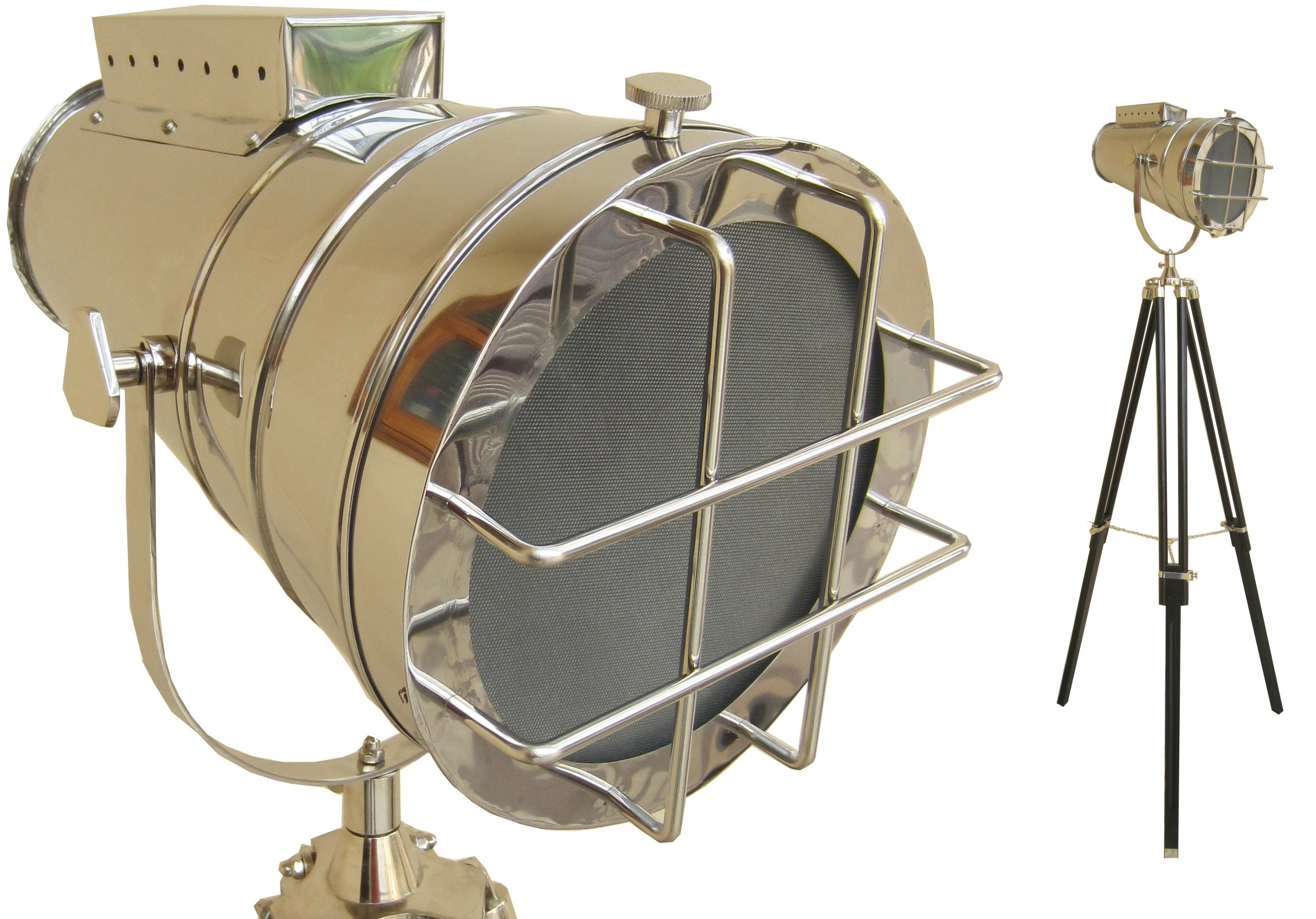 medieval replicas Floor Lamp Home Decorative Vintage Design Tripod Lighting Searchlight Spot Light