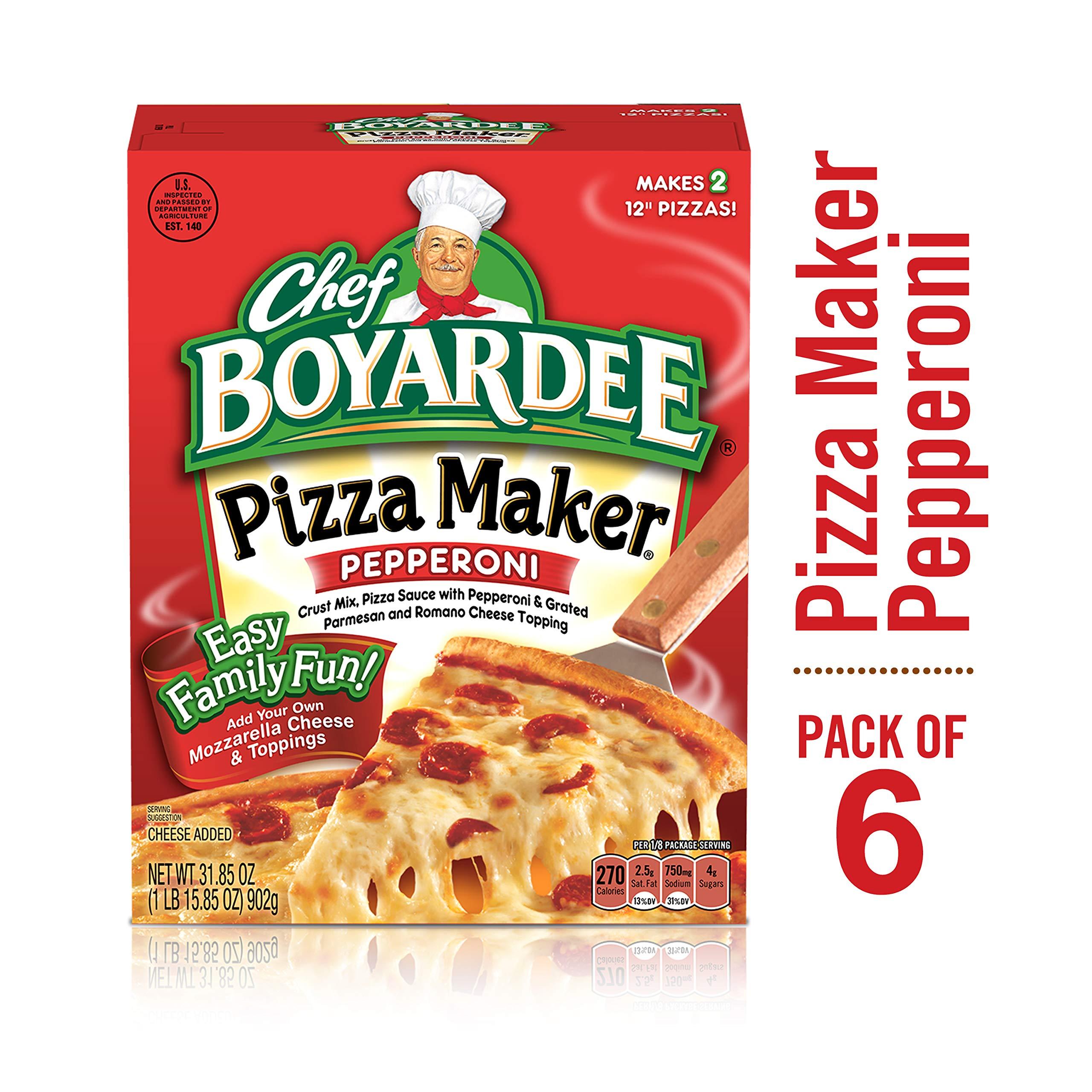 Chef Boyardee Pepperoni Pizza Maker, 31.85 oz, 6 Pack by Chef Boyardee