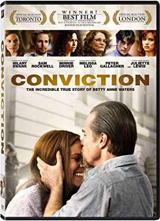 Conviction  >> Amazon Com Conviction Hilary Swank Sam Rockwell Melissa Leo