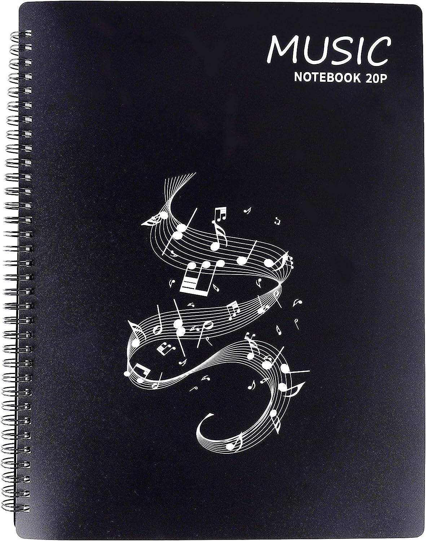 Punk formato A4/Dimensioni Efile relazione cartella per fogli A4/Artworksmusic fogli ritagli Nero Music Sheet Black
