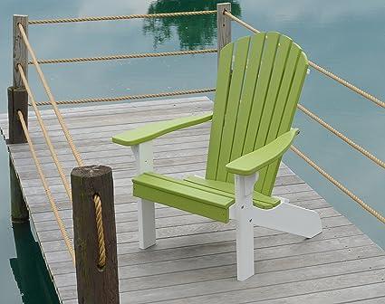 Amazon.com: POLYWOOD Adirondack silla, Poly sillas de madera ...